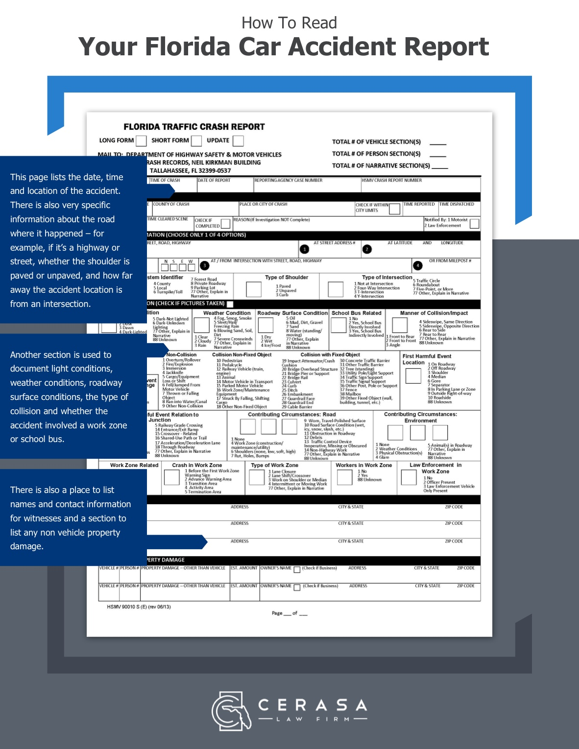 How To Read Your Accident Report page 1